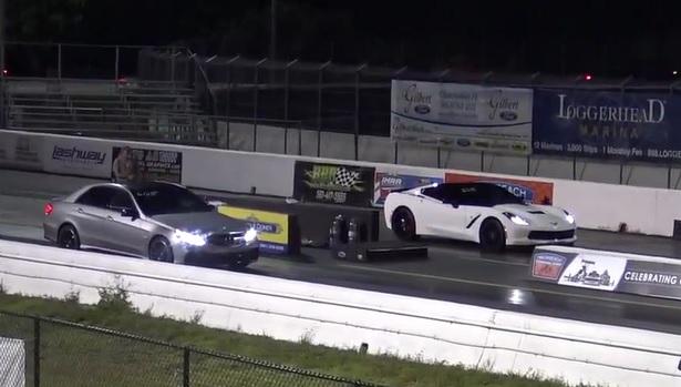 Fură startul ca să bată un Mercedes? Mercedes-AMG E63 S vs Corvette C7