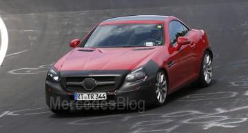 Mercedes-Benz SLC facelift se dezbracă pe Nurburgring