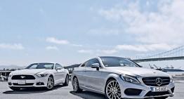 Photoshop, nu greșeală: fotografii cu Mercedes C-Class Coupe fără camuflaj