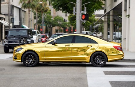 Gold CLS 63 AMG