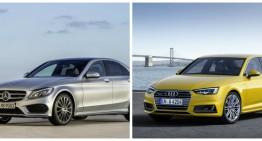 Noul Audi A4 vs Mercedes C-Class