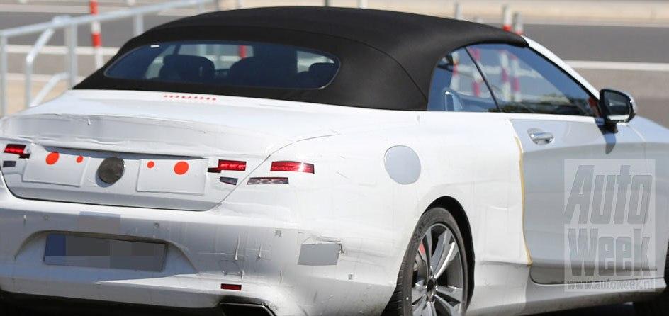 S-Class Cabrio își arată acoperișul textil. Noi fotografii spion