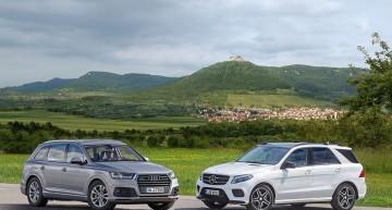 Mercedes-Benz GLE își întâlnește cel mai nou rival – Audi Q7