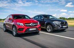 Prima comparație Mercedes GLE Coupe vs BMW X6 realizată de Auto Bild