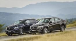 Exclusiv: primul test comparativ Mercedes GLE 350 d Coupe vs BMW X6 40d