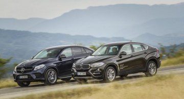 Exclusiv: primul test comparativ Mercedes GLE 350 d Coupe vs BMW X6 40d