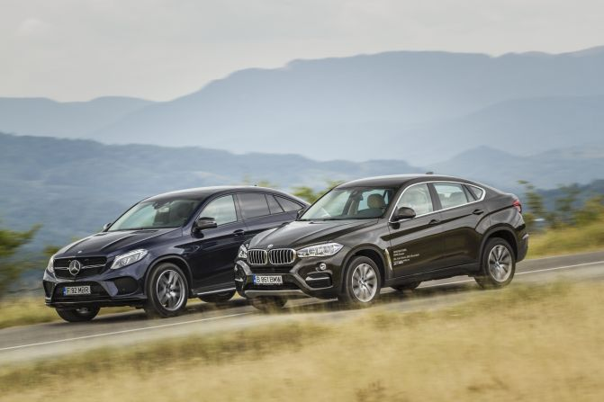 Exclusiv Primul Test Comparativ Mercedes Gle 350 D Coupe Vs Bmw X6 40d Mercedesblog Ro
