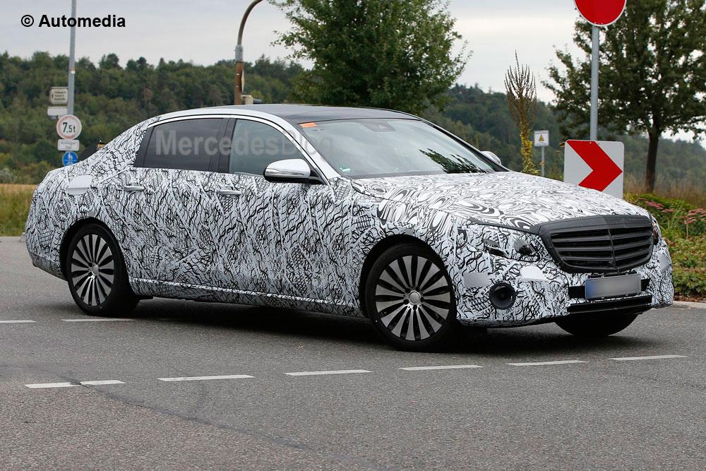 """Mercedes-Maybach E-Class """"pozează"""" pentru o nouă filmare spion"""