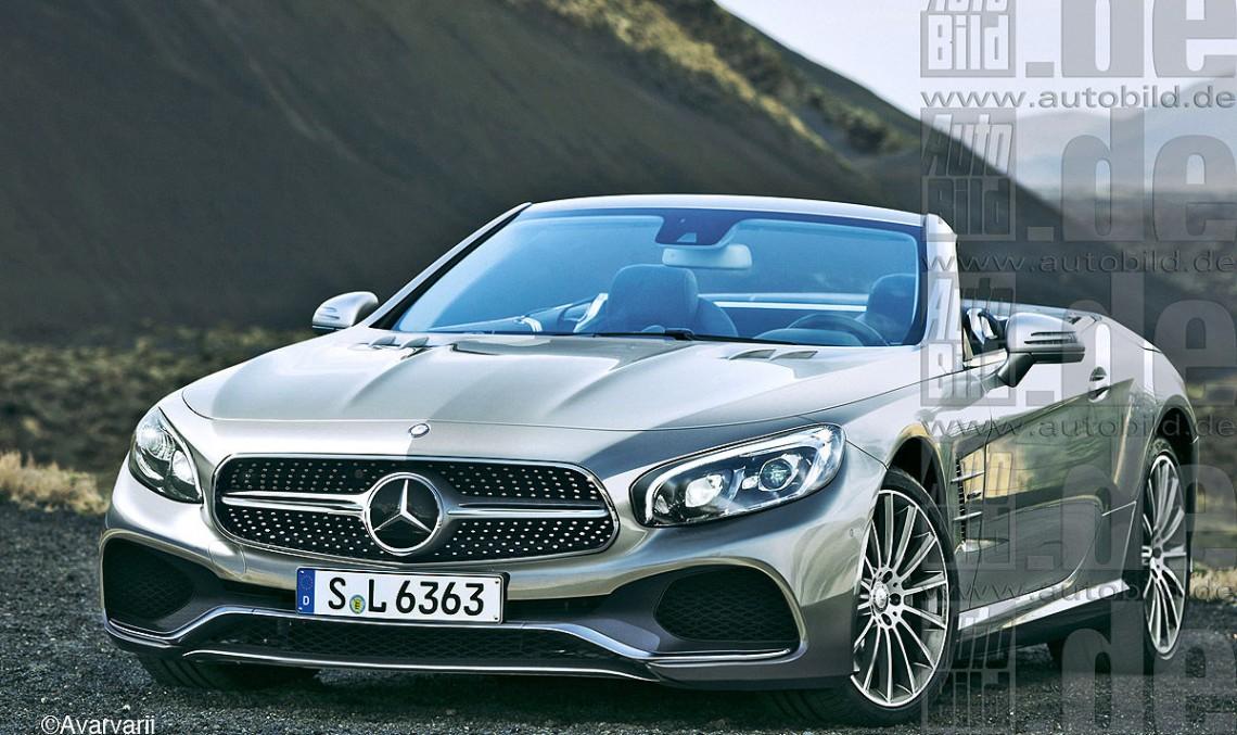 Mercedes SL/SLC facelift, realizate digital de către AutoBild