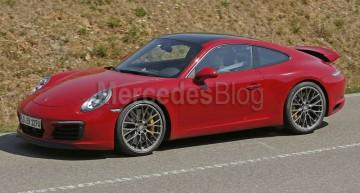 Porsche 911 2016 facelift, fără camuflaj
