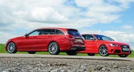 Mercedes-AMG C 63 T-Modell își întâlnește cel mai aprig dușman, Audi RS4 Avant