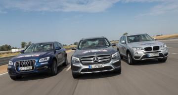 Mercedes-Benz GLC 2016 vs BMW X3, Audi Q5. Care este cel mai bun?