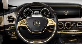 O mină de aur – Mercedes S63 AMG cu aur de 24 de karate