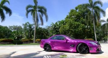 Un SL 65 AMG Black Series a devenit purpuriu