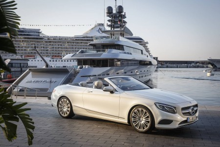 Mercedes-Benz S-Class Cabriolet Silver Fast Yacht