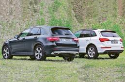 Noul Mercedes-Benz GLC față-n față cu vechiul Audi Q5 într-un test AutoBild