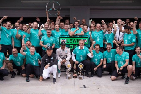 Putin soaked Mercedes-AMG Petronas
