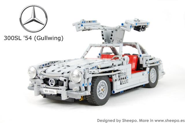 Cel mai realist Mercedes-Benz 300SL Gullwing construit vreodată din piese Lego