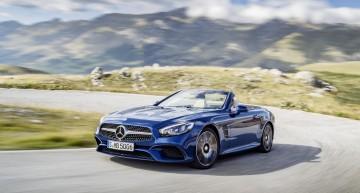 Alergînd după soare – primele clipuri cu Mercedes-Benz SL facelift 2016