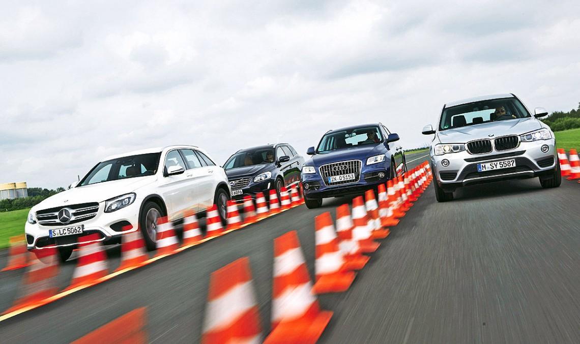 Test comparativ Mercedes-Benz GLC vs Audi Q5, BMW X3, Volvo XC60