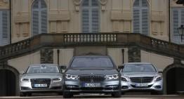 Test comparativ realizat de auto motor und sport: Mercedes S 500 vs BMW 750i, Audi A8 4.0 TFSI