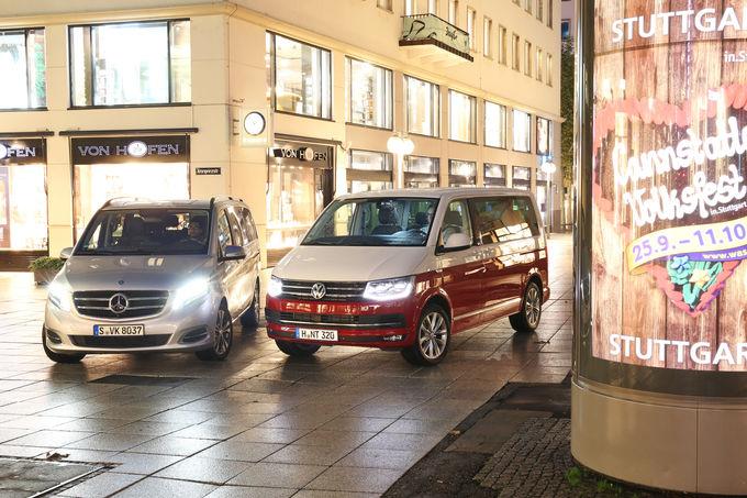 Care este regele? Mercedes V 250 d vs VW Multivan 2.0 TDI în testul comparativ realizat de auto und motor und sport