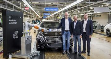 Mercedes-Benz S 500 e: mașina cu numărul 20 de milioane fabricată la Sindelfingen
