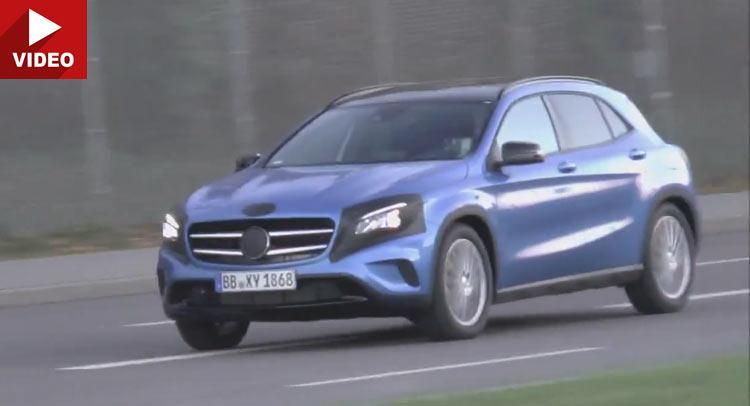Mercedes GLA facelift 2017 surprins pe cameră