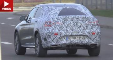 Mercedes-Benz GLC Coupe iese la lumină într-un nou video spion