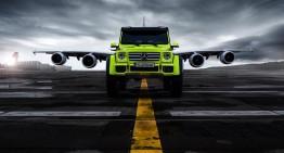 Extraterestru: Mercedes-Benz G 500 4×4² și Airbus A 380 într-o super ședință foto