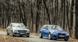 Test comparativ Mercedes C 220 d T-Model vs BMW 320 d Touring xDrive