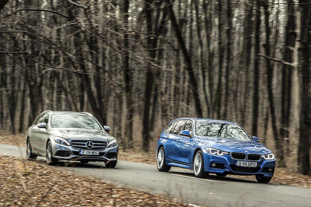 Test comparativ Mercedes C 220 d T-Model vs BMW 320 d Touring xDrive