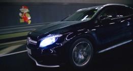 Super Mario conduce un Mercedes-Benz GLA pe un nou circuit