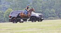 """Cursa secolului – Mercedes GL """"Black Crystal"""" se ia la întrecere cu un cal"""