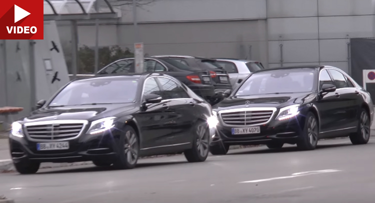 Vedeți Mercedes S-Class facelift în mișcare. VIDEO SPION