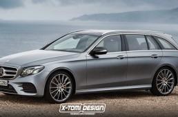 Mercedes-Benz E-Class T-Modell 2017  își face apariția în simulări digitale
