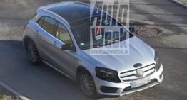 Mercedes GLA facelift 2017 dezvăluit în noi fotografii spion