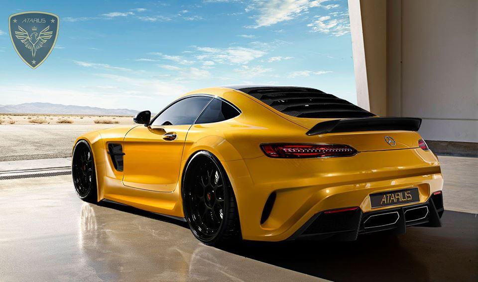 Mercedes-AMG GT în viziunea Atarius Concept – Bestia care scoate fum pe nări