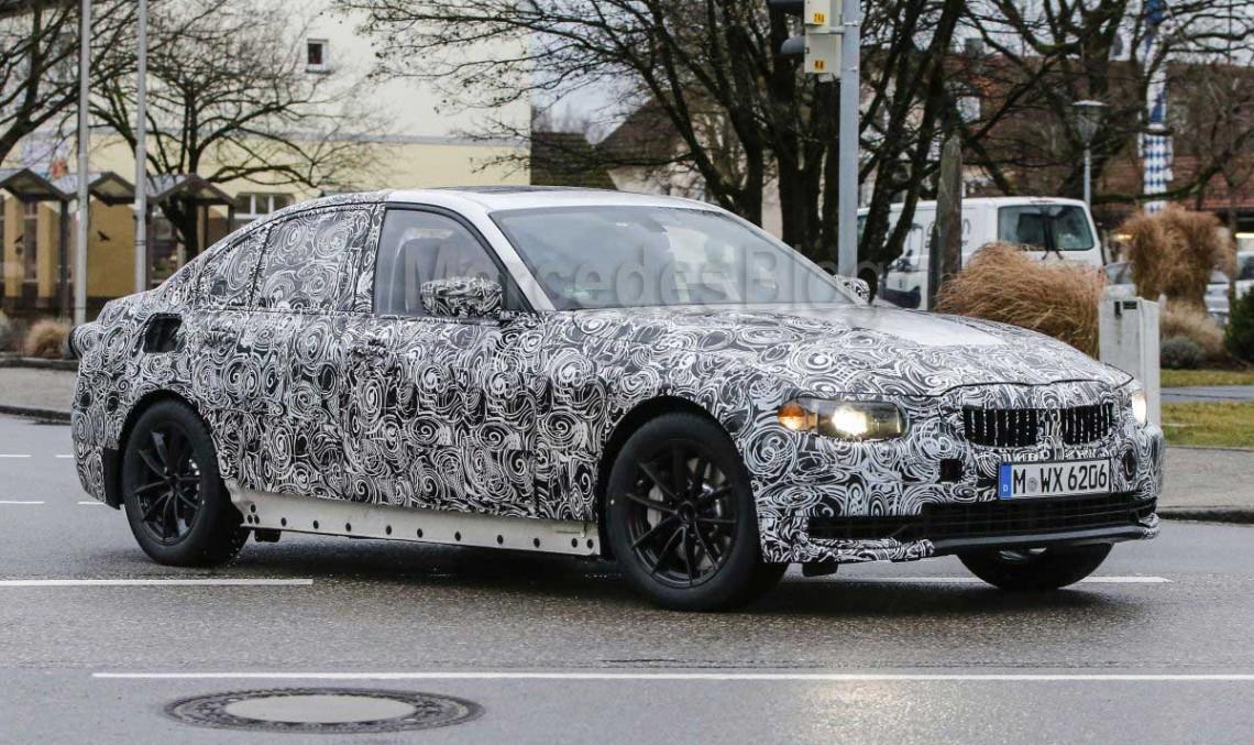 C-Class, fii pe fază! BMW Seria 3 2018 spionat în premieră