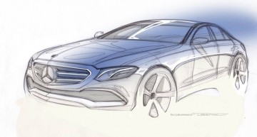 Mercedes-Benz arată schița noului E-Class la miezul nopții! Chiar e un an nou fericit!