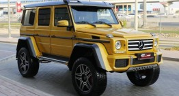 Primul Mercedes-Benz G500 4×4² a ajuns la Dubai