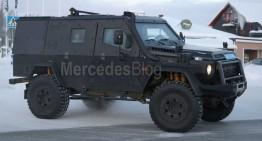 Mercedes G-Class LAPV. Panzer-ul blindat G 500 4X4² spionat