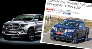 Viitorul pick-up Mercedes îmbrăcat în haine de Nissan