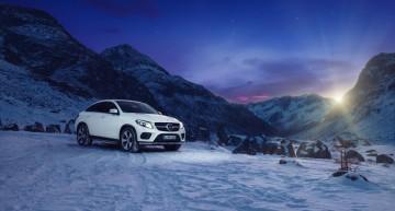 Regatul zăpezii – Mercedes-Benz GLE 400 Coupe înfruntă Alpii Elveției