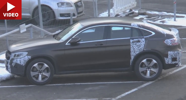 Mercedes GLC Coupe 2017 face striptease