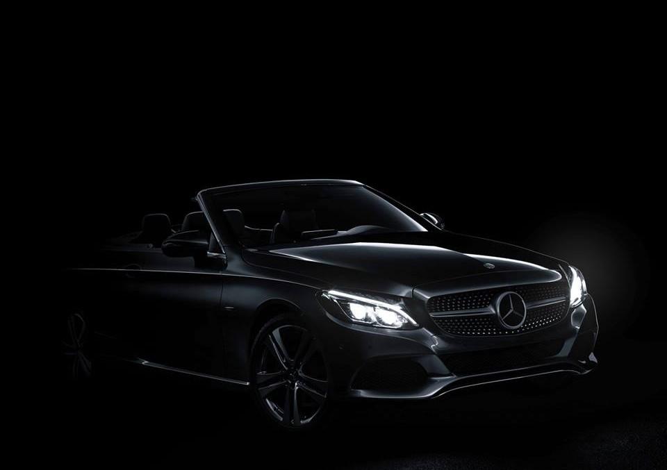 Iese la lumină! Mercedes-Benz C-Class Cabrio arată partea frontală