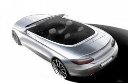 De-a v-ați ascunselea – Schița noului Mercedes-Benz C-Class Cabrio înaintea debutului oficial de la Geneva