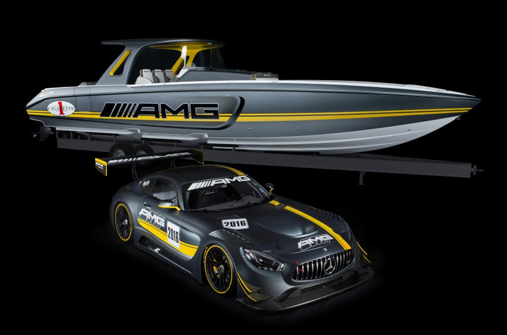 Cea mai tare ambarcațiune de viteză e inspirată de Mercedes-AMG GT3