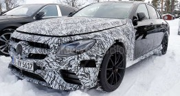 Mercedes-AMG E 63 cu 600 CP spionat. Față-n față