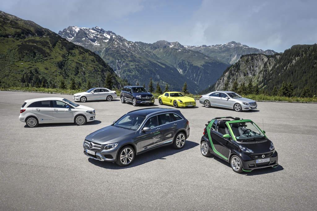 Mercedes-Benz auf der Silvretta E-Auto Rallye 2015 mașini electrice
